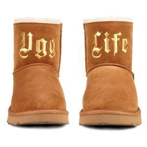 UGG x Jeremy Scott UGG Life Classic Mini Chestnut